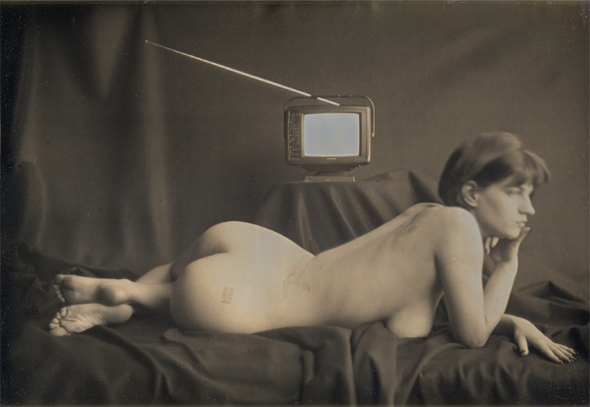 Libby (Female Nude with Television)