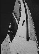 Stanko Abadžic - Bicyclist on Bridge, Berlin Click for more Images