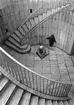Stanko Abadžic - Boys, Scooter and Stairs (from the Paris Cycle) Click for more Images
