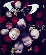 Starr Ockenga - Floating Heads with Hands and Flowers Click for more Images