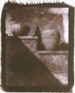 Robert Asman - Untitled (Brick Wall with Clay Urns) Click for more Images
