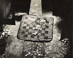 Arthur Tress - Cards and Checkerboard in Abandoned Locker Room for Railroad Workers Click for more Images