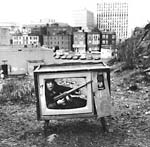 Arthur Tress - Boy in TV Set, Boston, MA Click for more Images